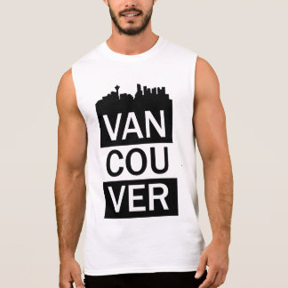 Regata O t-shirt sem mangas dos homens com rotulação de