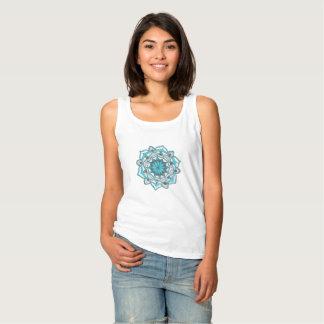 Regata O tanque das mulheres mandal azuis do design