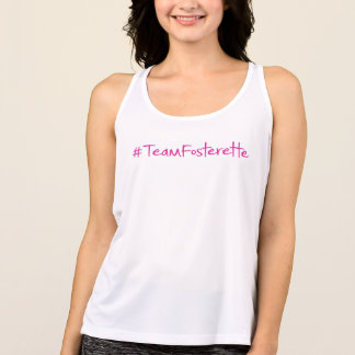 Regata O #TeamFosterette ostenta a camisola de alças