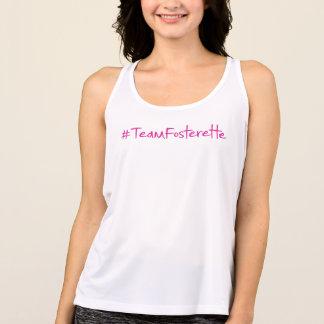 Regata O #TeamFosterette ostenta a camisola de alças com