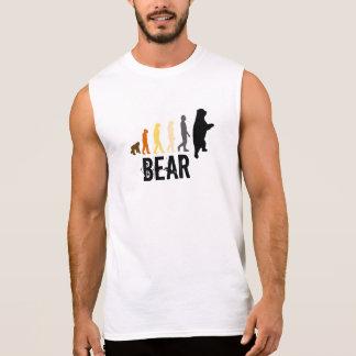 Regata O urso/subida do urso do homem colore a pata preta