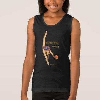 Regata Os Gymnasts rítmicos têm uma camisola de alças das