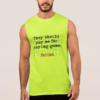 Regata Pague-me! Dos homens t-shirt sem mangas do algodão