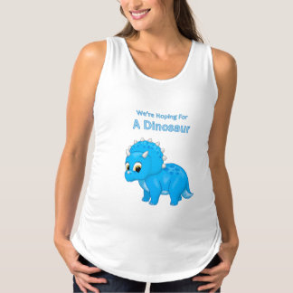Regata Para Gestantes Anúncio bonito da gravidez do bebé do dinossauro