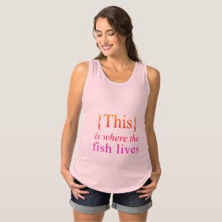 Regata Para Gestantes Isto é o lugar onde o peixe vive a camisola de