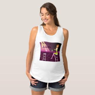 Regata Para Gestantes Menina no t-shirt de maternidade da camisola de