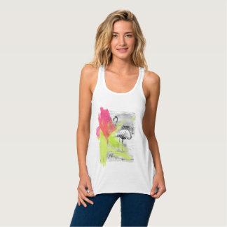 Regata Pássaro do flamingo da praia do curso da escova de