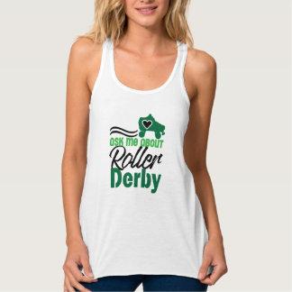 Regata Pergunte-me sobre o rolo Derby, patinagem de rolo