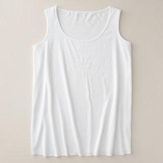 Regata Plus Size Camisola de alças do Mais-Size das mulheres