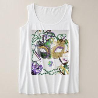Regata Plus Size T-shirt da máscara da senhora carnaval