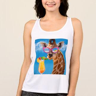 Regata Praia do girafa - girafa engraçado