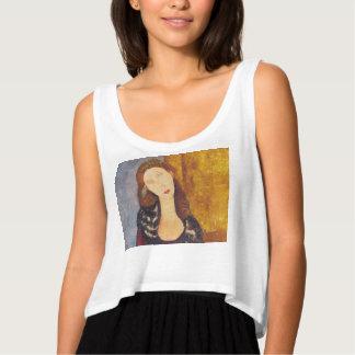 Regata Retrato de Jeanne Hebuterne por Amedeo Modigliani