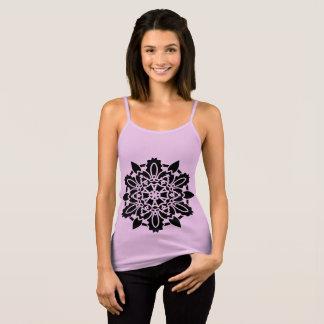 Regata ROSA do tshirt de Bella com arte da mandala