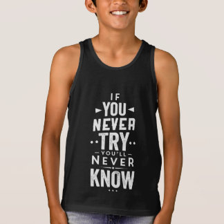 Regata Se você nunca tenta você nunca saberá a camisola