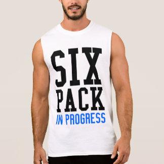 Regata Seis t-shirt sem mangas em andamento do bloco
