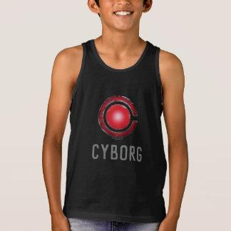 Regata Símbolo de incandescência do Cyborg da liga de