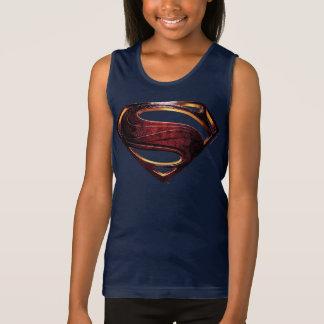 Regata Símbolo metálico do superman da liga de justiça  