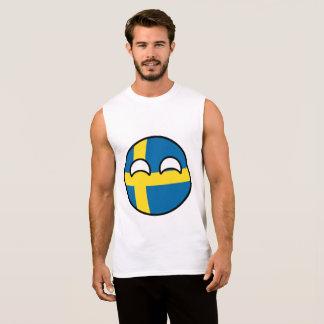 Regata Suecia Geeky de tensão engraçada Countryball
