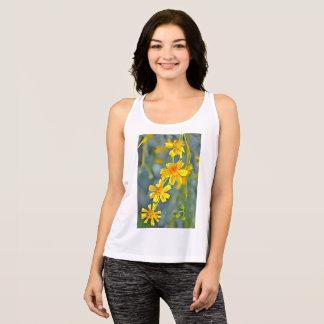 """Regata """"T da camisola de alças da flor selvagem"""" das"""