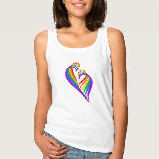 Regata T-shirt abstrato II do coração do #Rainbow