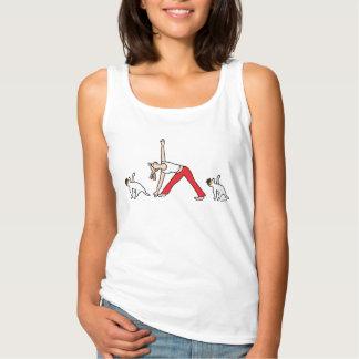 Regata T-shirt da ioga de Jack Russell Terrier