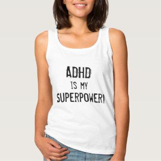 Regata T-shirt da superpotência de ADHD