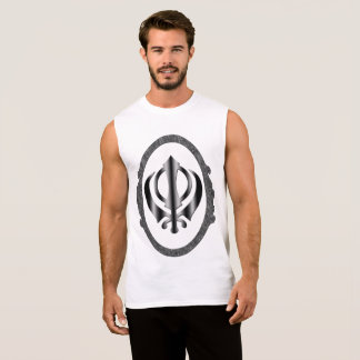 Regata T-shirt do símbolo do sikh de Khanda
