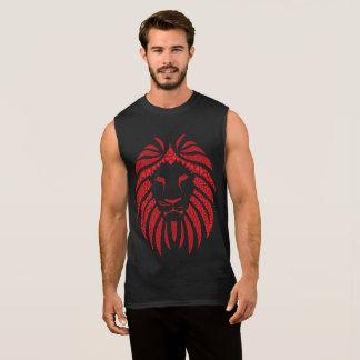 Regata T-shirt do vermelho da bolha do leão