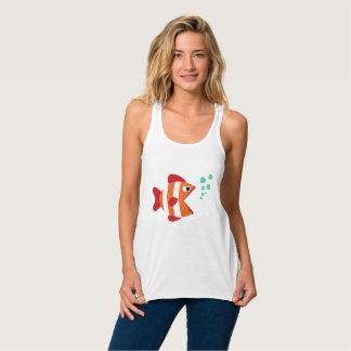 Regata T-shirt engraçado dos peixes de Сute com bolhas de