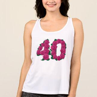 Regata T-shirt floral do aniversário de casamento do