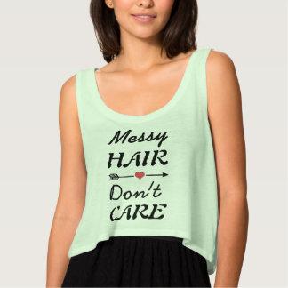 Regata T-shirt legal com citações desarrumado do cabelo
