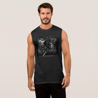 Regata T-shirt preto do mascarada dos homens