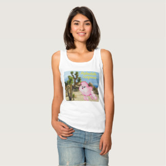 Regata T-shirt retro da caniche cor-de-rosa de Palmdale