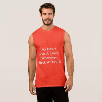 Regata T-shirt sem mangas dos homens apropriado para o