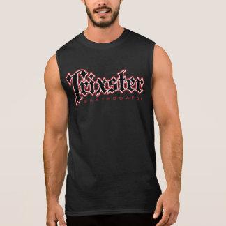 Regata T-shirt sem mangas dos homens dos skates de