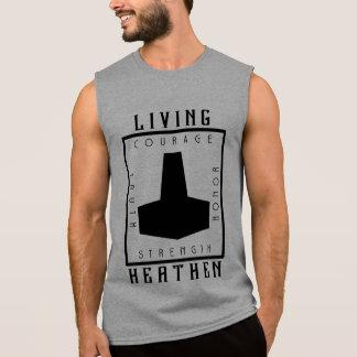 Regata T-shirt sem mangas selvagem vivo
