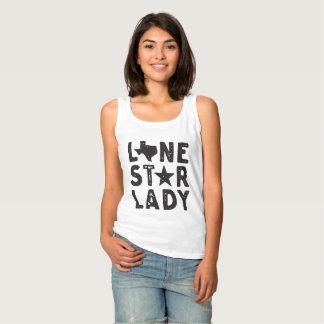 Regata T-shirt solitário da senhora Texas da estrela
