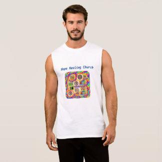 Regata T-shirt transversal cristão da igreja cura da