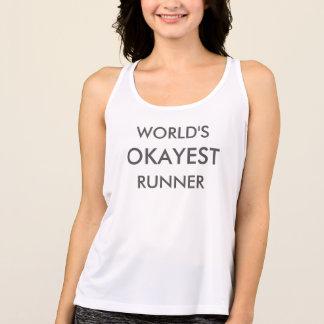 Regata Tanque da malhação do corredor do Okayest do mundo