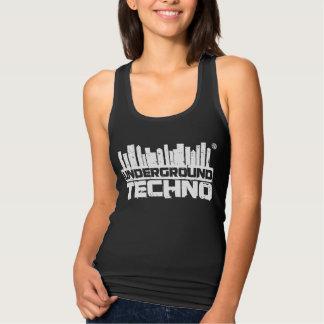 Regata Techno subterrâneo - a camisola de alças das