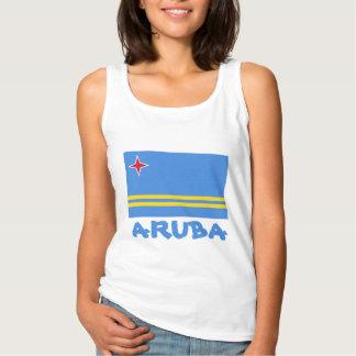 Regata Texto azul customizável da bandeira de Aruba