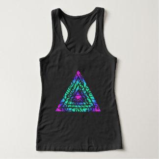 Regata Triângulo multicolorido abstrato