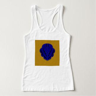 Regata Tshirt com ouro do azul dos ornamento