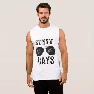 Regata Tshirt sem mangas dos dias ensolarados