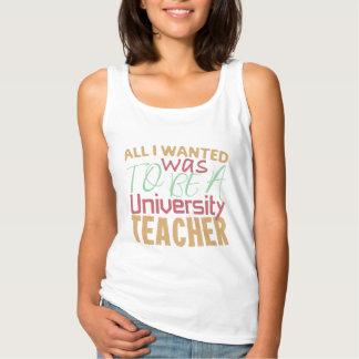 Regata Tudo I Wanted era ser um professor da universidade