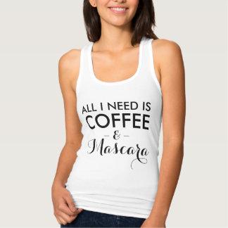 Regata Tudo que eu preciso é hipster engraçado do café e