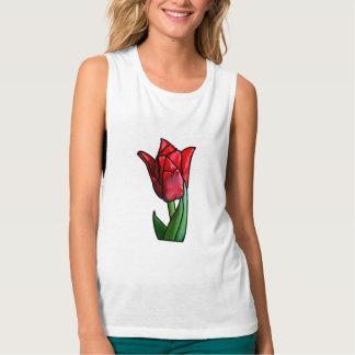 Regata Tulipa vermelha exótica do vitral