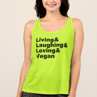 Regata Vida e riso e amor e Vegan (preto)