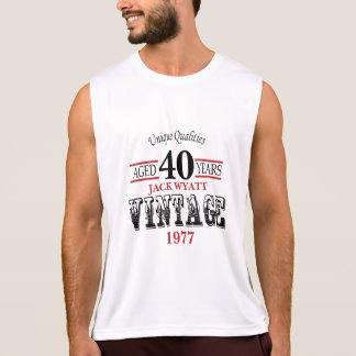 Regata Vintage algum aniversário da idade e do ano