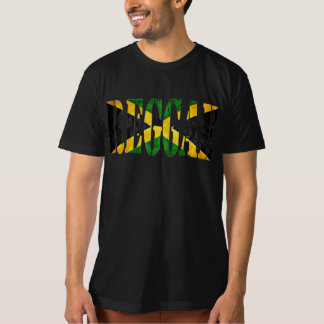 reggae com bandeira de jamaica camisetas